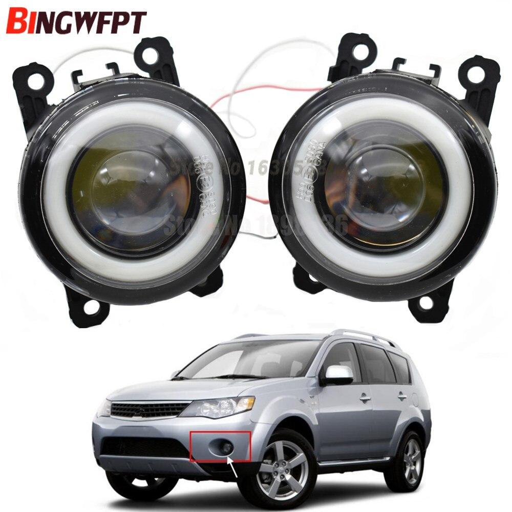 2x автомобильные аксессуары, светодиодная лампа, передний противотуманный светильник Angel Eye H11 12V для Mitsubishi Outlander XL 2007-2013 для Mitsubishi pajero 4 2011