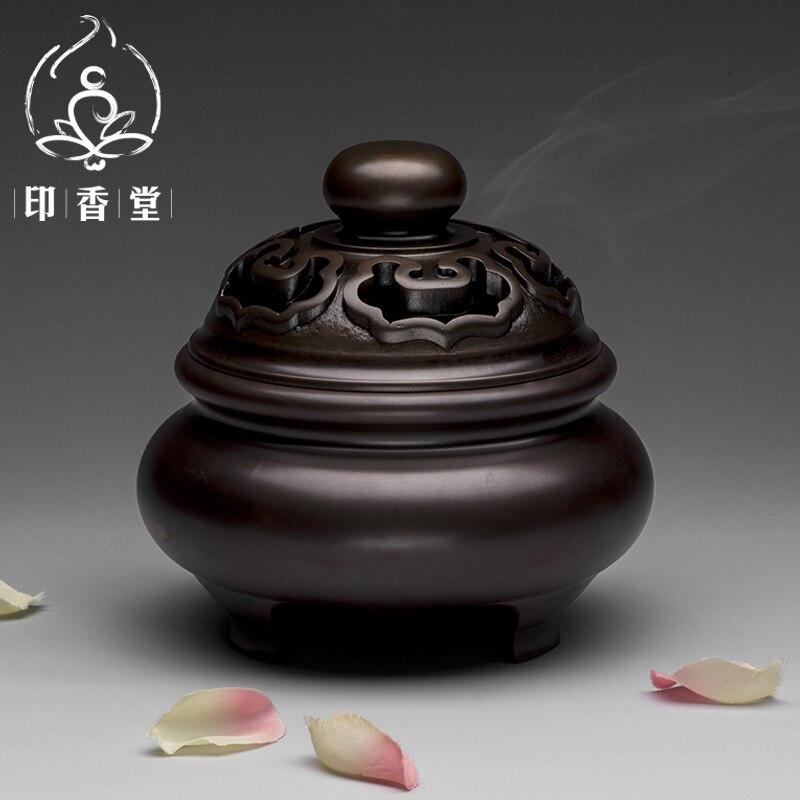 Fragrant incense Road antique coil furnace size fragrance burner copper