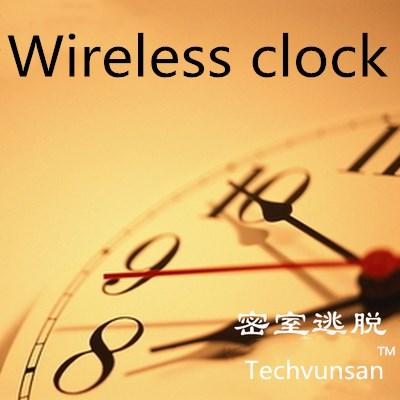 Horloge sans fil mettre le bon moment pour ouvrir la serrure prop takagisme jeu vraie vie échapper salle outils