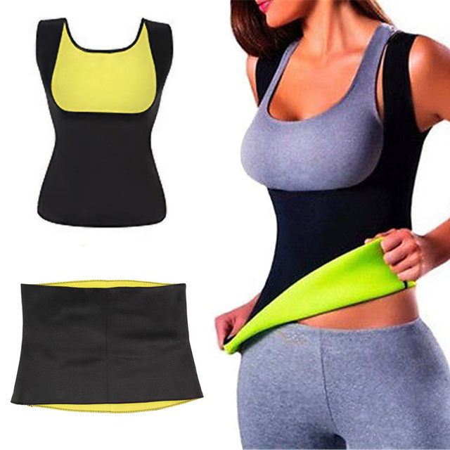 2b75832bd2 Weight Loss Slimming Hot Sweat Sauna Vest Neoprene Hot Shapers Activewear  Compression Belt for Thermal Calorie Burn