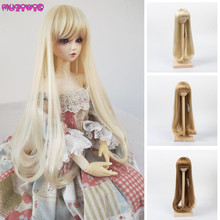 цена на Soft Hair for 1/3 BJD Dolls Long Curly High Temperature Synthetic Khaki Wigs Doll Accessories