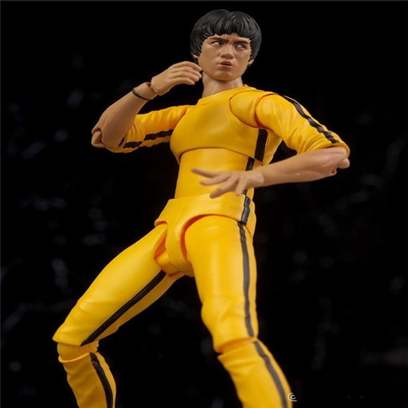 SHFiguarts 1978 Juego de la Muerte Kung Fu Master Bruce Lee PVC - Figuritas de juguete - foto 5