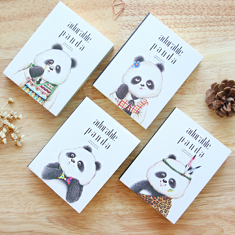 JOUDOO Cute Panda Notepad Cartoon Diary Journal Planner Bullet Mini Notebook Korean Stationery Office School Supplies cute nature animal plant a5 notebook 32 page notepad diary journal office school supplies free shipping