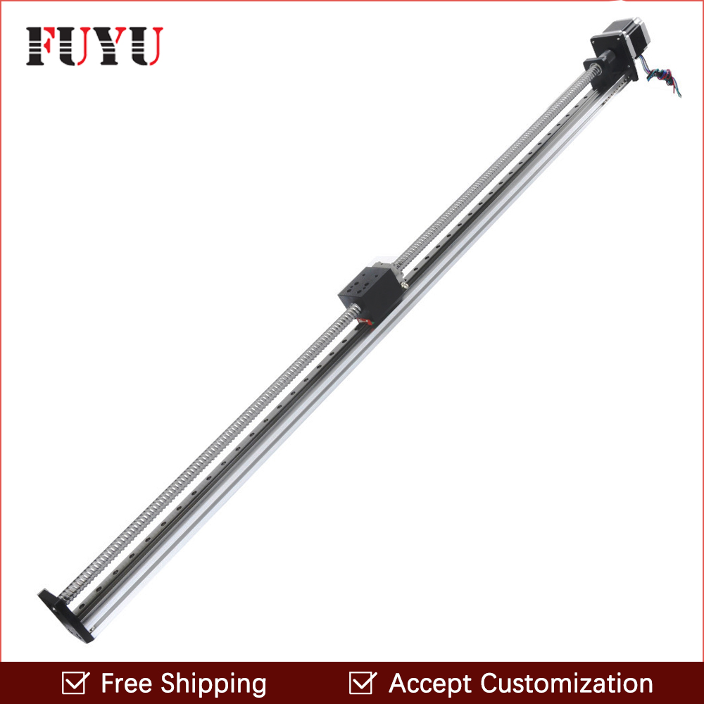 Free shipping Easy operation 900mm ball screw guide module effective travel 40mm width for 3d printer easy operation 600 900 mm mini cnc lathe