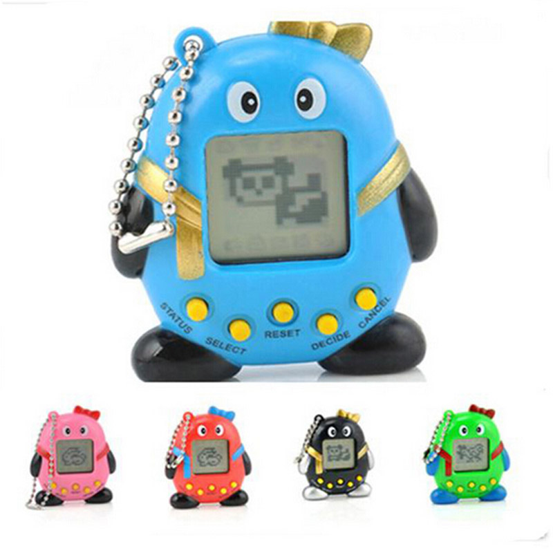 Electronic Digital Penguin Pet Tamagochi 168 Virtual Interactive Cyber Pets Children's Robots Kids Gift Toys Game Color Random
