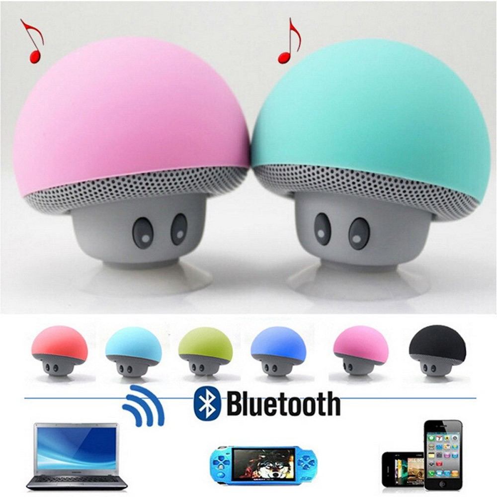 Waterproof Wireless Mini Bluetooth Speaker with Suction Cup Phone Holder Stand