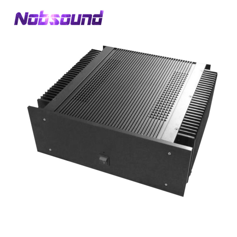 Nobsound Class A Power Amplifier Chassis Aluminum Enclosure Black Box Cabinet nobsound hi end audio noise power filter ac line conditioner power purifier universal sockets full aluminum chassis