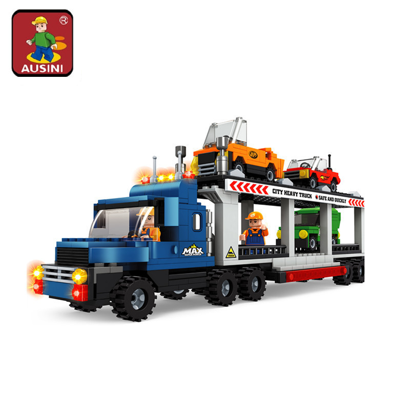 AUSINI model building kits compatible with lego city car 534 3D blocks Educational model & building toys hobbies for children lepin 02012 city deepwater exploration vessel 60095 building blocks policeman toys children compatible with lego gift kid sets