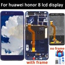 Dla Huawei Honor 8 wyświetlacz LCD z ekranem dotykowym Digitizer dla Honor8 dla Huawei Honor 8 LCD z ramką FRD L19 L09 L14 ekran lcd