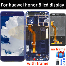 Voor Huawei Honor 8 Lcd Touch Screen Digitizer Voor Honor8 Voor Huawei Honor 8 LCD Met Frame FRD L19 L09 l14 lcd scherm