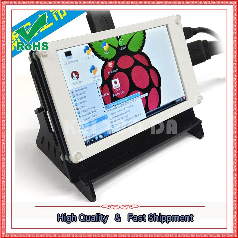 Малина 3 поколения сенсорный экран 5 дюймов HDMI ЖК-дисплей дисплей высокого разрешения Малина pi3 pi2/b Модуль совета
