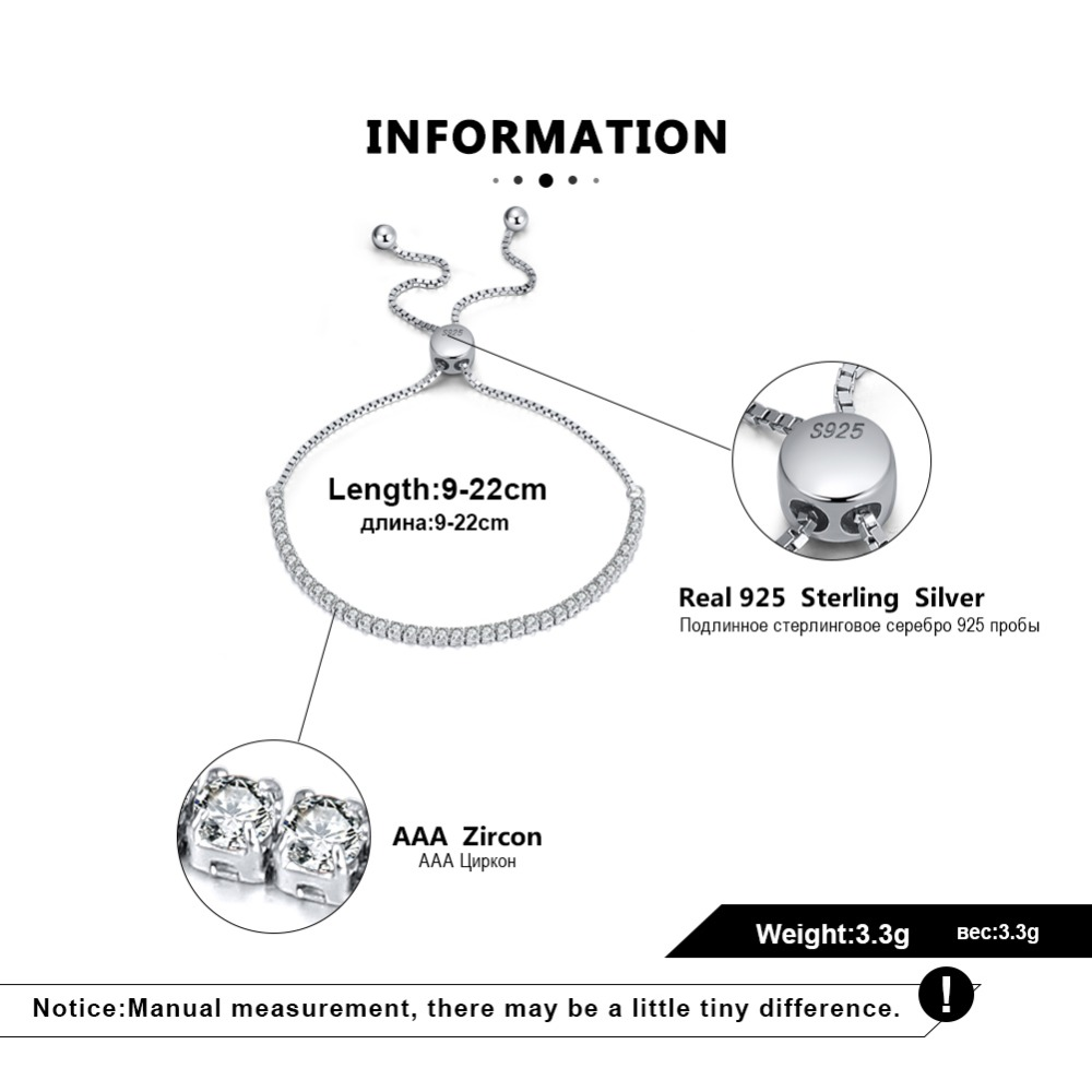 HTB1O7T XL1H3KVjSZFHq6zKppXan ORSA JEWELS Real 925 Adjustable Bracelet With Single Row Transparent ZirconSterling Silver Chain Dating Collocation Jewelry SB43