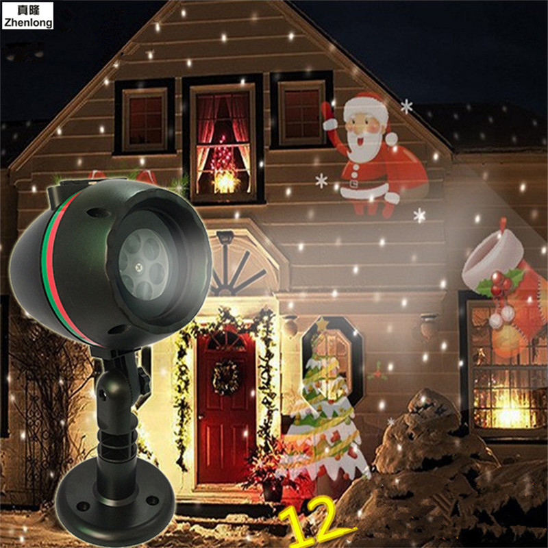LED Stage Light Laser Projector Lamps Heart Snow Butterfly Bat Christmas Party Landscape Light Garden Lamp Outdoor Lighting
