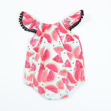 VTOM Hot Sale New Summer  Baby Ronpers Infant Sleeveless Jumpsuits Cotton Clothes Rompers For Newborn Girls