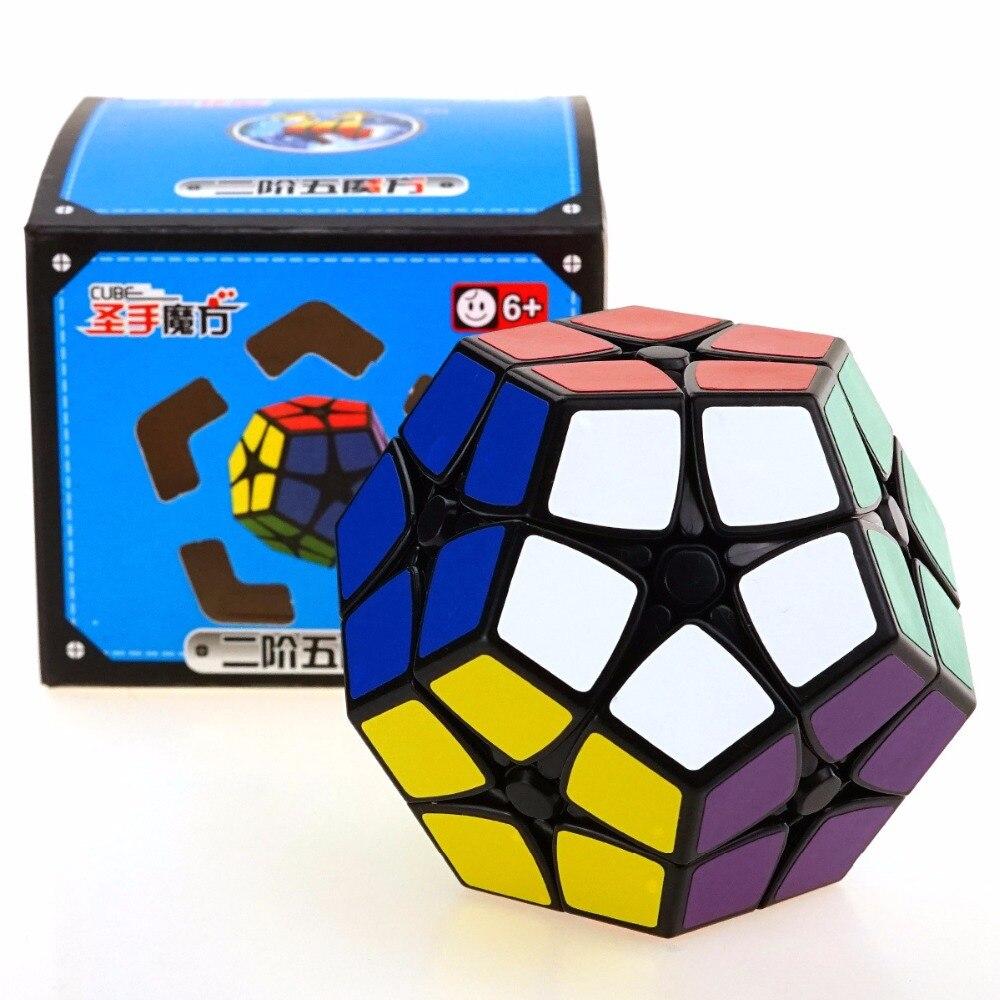 Shengshou Megeminx 2x2 Magic Speed Cube Puzzle Autocollant Professionnel 12 Côtés cubes Éducatifs Cadeau Jouets Pour Enfants