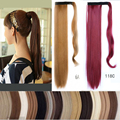 Hot 1 PC 60cm Ponytail Clip In Tail Hair Extension Wrap on Hair Piece Straight Style 100% High quality  Ponytails Free Shipping
