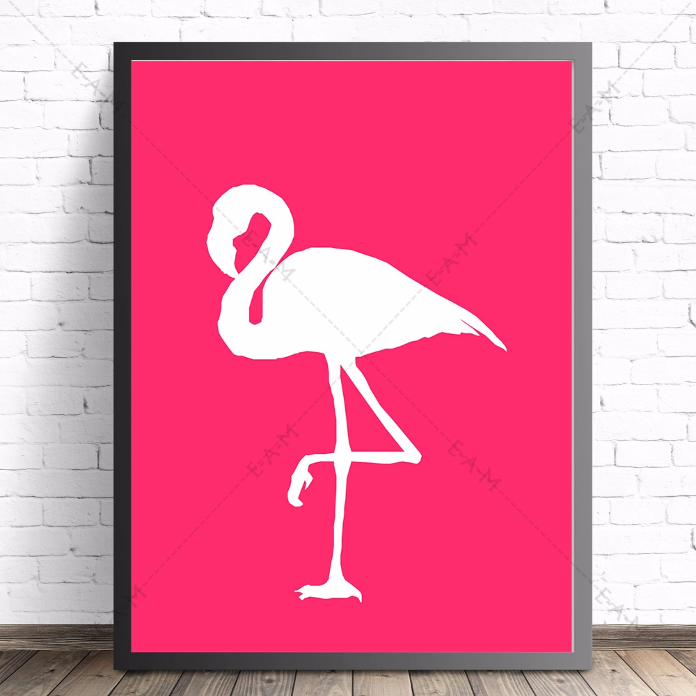 Flamant Home Decoration Us 9 45 Pink Flamant Rose Love Canvas Art Print Painting Poster Wall Pictures For Living Room Home Decorative Bedroom Decor No Frame In Painting