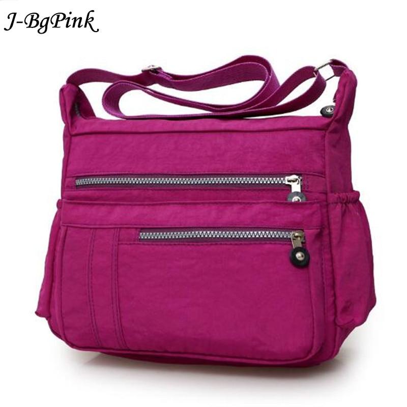 Solid Color Diaper Bag Waterproof Nylon Zipper Mom Maternity Bag for Stroller Multifunctional Travel Women Shoulder Bag 6 Colors