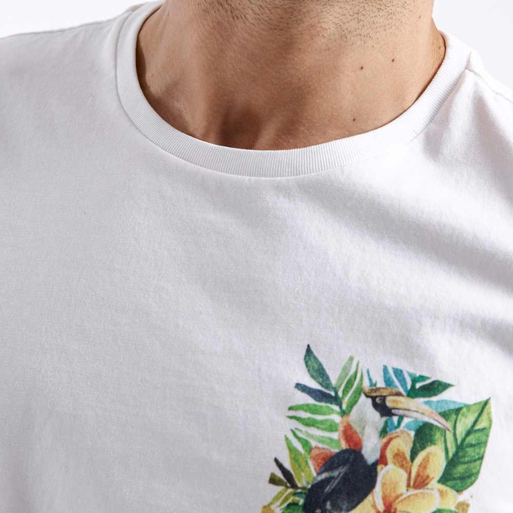 SIMWOOD 2019 verano Camisetas de los hombres 100% algodón Slim Fit Plus tamaño Casual Tops imprimir camisetas de marca de ropa envío gratis 180314