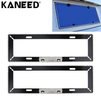 KANEED Car Styling Car License Plate Frame Aluminum Alloy Universal License Plate Holder Car Accessories 2