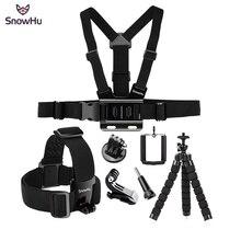 SnowHu boîtier pour Gopro 8 7 6 4 accessoires, ensemble daccessoires, sangle de tête, réglable pour Gopro Hero, 8, 7 6 4 3 pour SJCAM Xiaomi, GS65