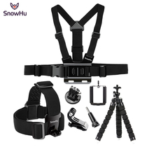 купить SnowHu for Gopro 7 6 5 4 Accessories set  Head Belt Strap Mount Adjustable For Gopro Hero 7 6 5 4 3+ for SJCAM Xiaomi Yi GS65 по цене 630.26 рублей