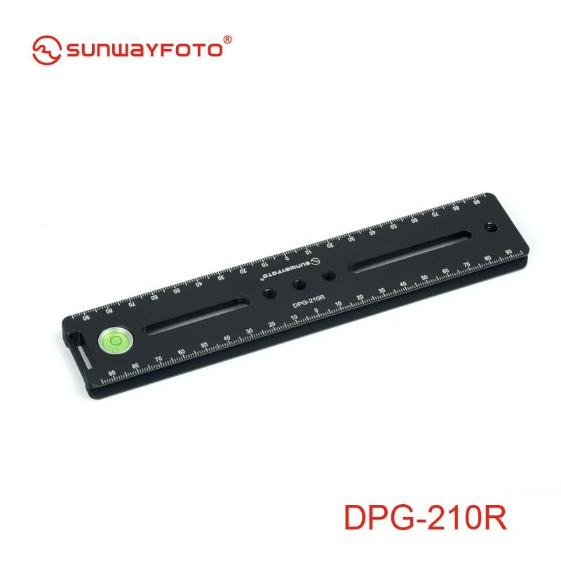 SUNWAYFOTO DPG-210R Tripod Head Quick Release Plate for DSLR Camera Tripod Plate Professional Monopod Quick Release Plate