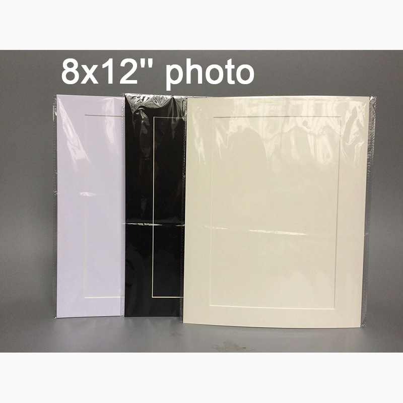 Negro blanco crema ácido libre cartón 11x14 \'\'foto Marcos con ...