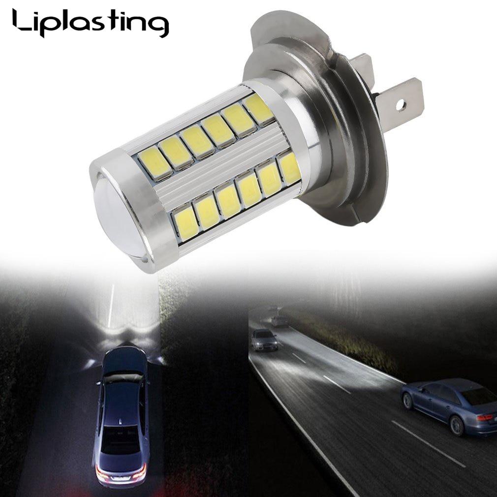 1 Pcs H7 LED Car LED Bulbs 33 5630 SMD Auto Car Fog Light Brake Tail Lamp White For DC 12V