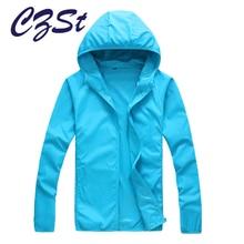 CZSt Outdoor Hiking Softshell Jacket Quick Drying Skin Windbreaker Sun Protection Clothing Men Women Ultra-Thin Waterproof
