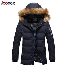JOOBOX Brand Men Clothing 2016 New Men Winter Jacket Casual Long Parka Men With Removable Hat