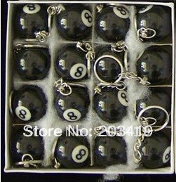 mini ball Pool Billiards snooker table ball keychain the same material as the real BILLIARDS small number black