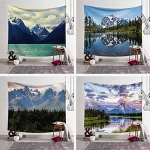 High Quality Landscape Painting Wall Tapestry Hanging Carpet Scenic Printed Sofa Cover Beach Towel Blanket Mat Home Decorative