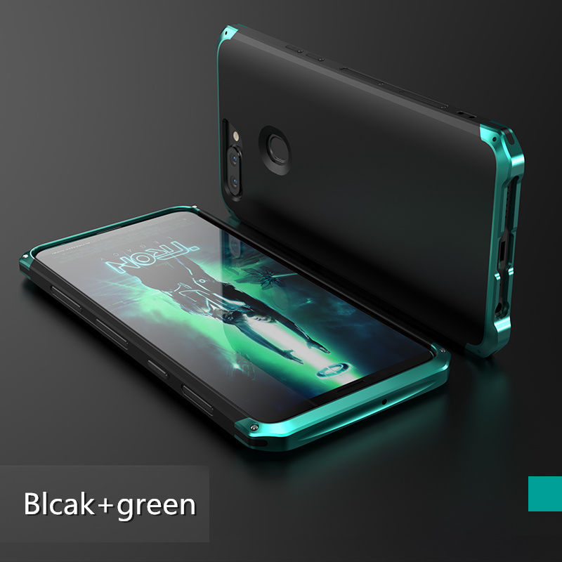 GINMIC Brand Case For OPPO R11S Luxury 3 in1 Aluminum Alloy Bumper + Hard PC Back Cover Shockproof Metal Case For OPPO R11S Plus