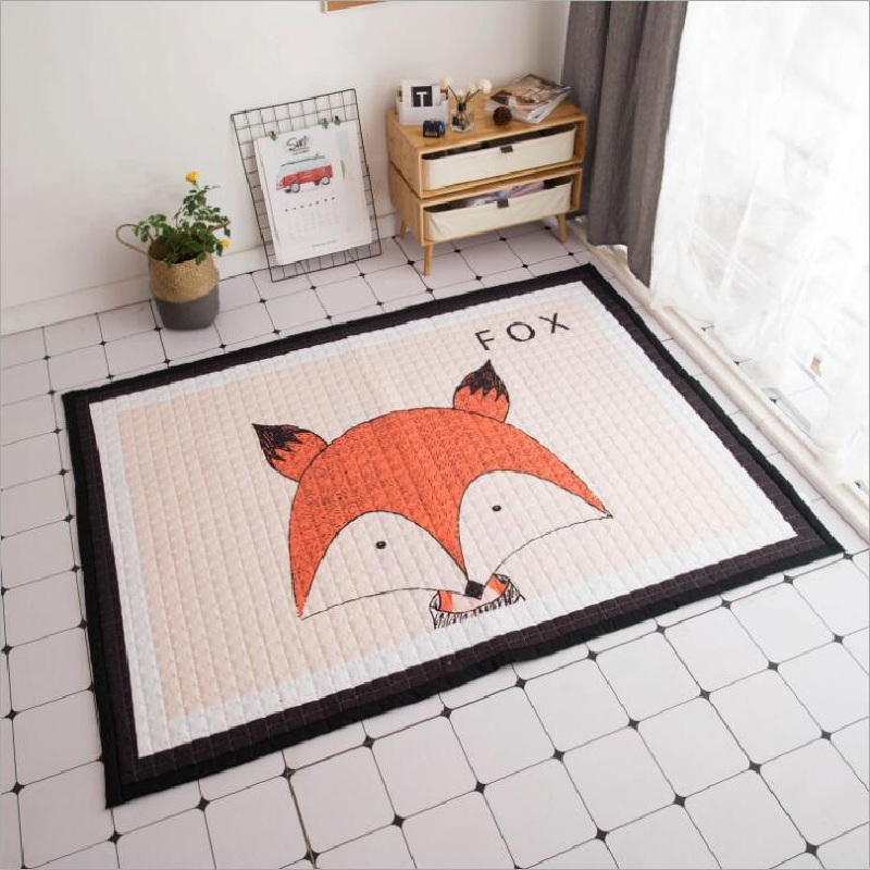Animals Deer Elephant Fox Bear Giraffe Anti-skid Baby Play Mats Blanket Kids Carpet Nordic Style Room Home Decor Photo Props | Happy Baby Mama