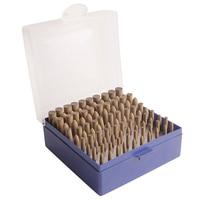 100 Pcs Leather Polishing Head Oval Bullet Taper Rubber Set 3mm Shank Abrasive Grinding Head Buff