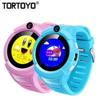 TORTOYO A17 Q360 Kid Tracking Watch LBS GPS Positioning Smart Watch Phone Touch Screen Camera Flashlight SOS Anti lost Reminder