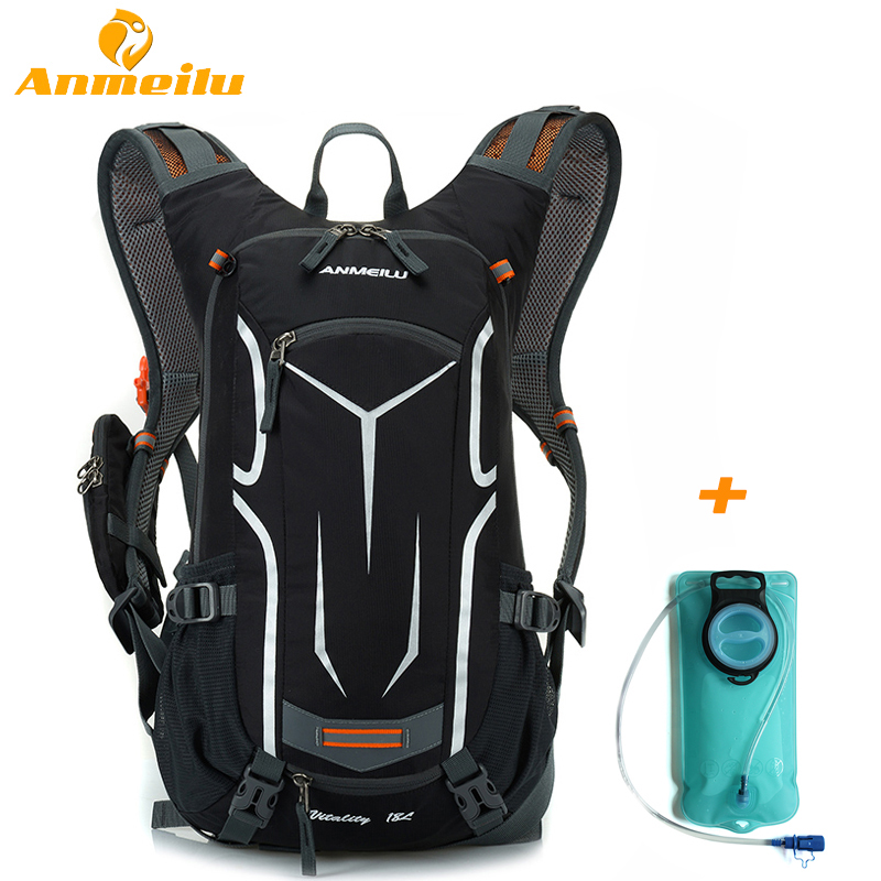 ANMEILU 18L Waterproof Camping Backpack 2L Water Bag Outdoor Sports Climbing Cycling Bag Hydration Bladder Camelback Water Pack anmeilu 2l sports water bags bladder hydration 20l waterproof cycling backpack camping climbing bike bag sport rucksack 2018