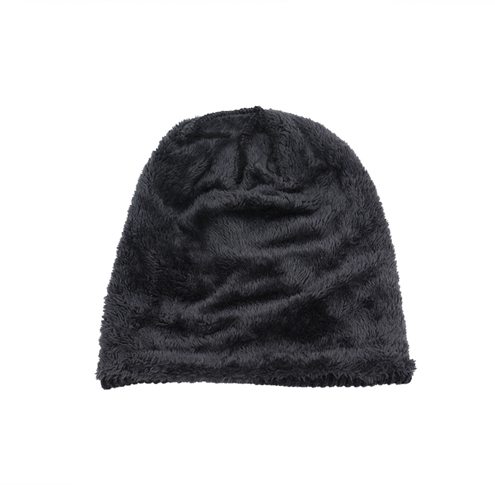 fe39426071dbc Winter Beanies Men Solid Color Knit Oversize Skulls Beanies Mens ...