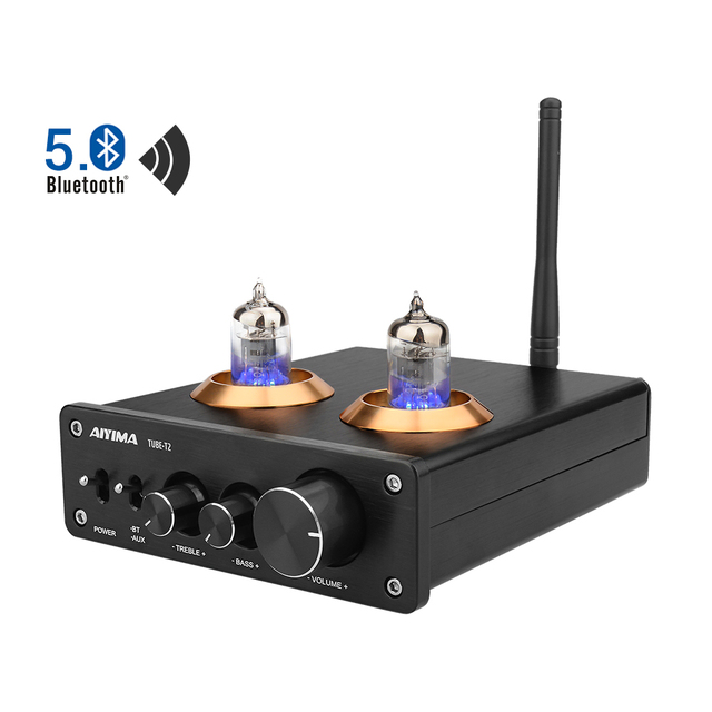 AIYIMA Bluetooth 5.0 HiFi 6J1 Tubo A Vuoto Amplificatore Preamplificatore Stereo Preamplificatore Con Alti Bassi di Controllo Per La Casa Suono Theater