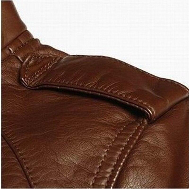 2015 Men's PU Leather Jacket Fashion Transverse Slim Fit Leather ...