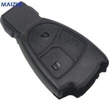hot deal buy jingyuqin 100pcs 3 btn remote car key case shell fob for mercedes for benz b c e ml s clk cl 3b 3bt smart key shell car-styling