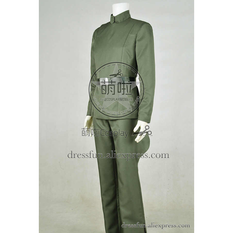 Star Wars Imperial Stormtrooper Officer Admiral Cosplay Costume Green Halloween