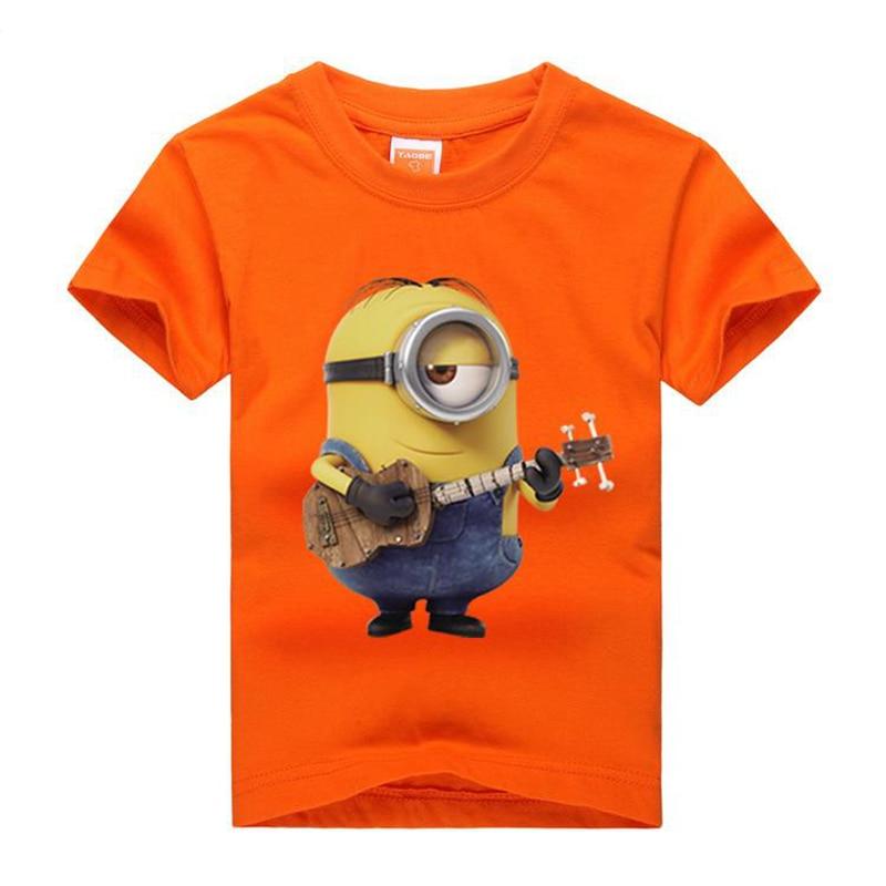 Memon summer children clothing baby Shirts Cotton Kids Tops Steuart play guitar Kids print Tshirts size 3-14 T