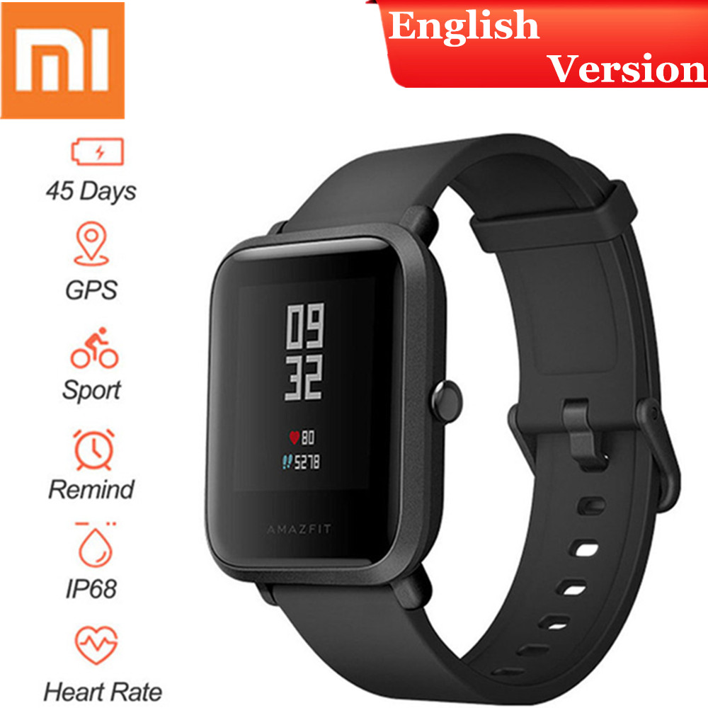 English New Original Xiaomi Huami Amazfit Smart Watch Bip BIT PACE Lite Youth Version GPS Heart Rate Fitness Tracker Watch Huami cool magic sticker canvas strap wrist band for huami amazfit bip youth watch fitness tracker fitness braceletdrop shopping