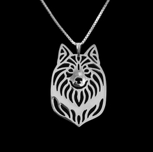 Hot Sale 1PC Icelandic Sheepdog-Necklace 3D Hollow Animal Lover Pendant Memorial Necklaces Christmas Gift For Women Friend