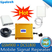 Lintratek GSM 900 4G LTE 1800 (FDD Band 3) Dual Band Repeater LCD Display GSM 900 DCS 1800mhz Cellular Mobile Signal Booster
