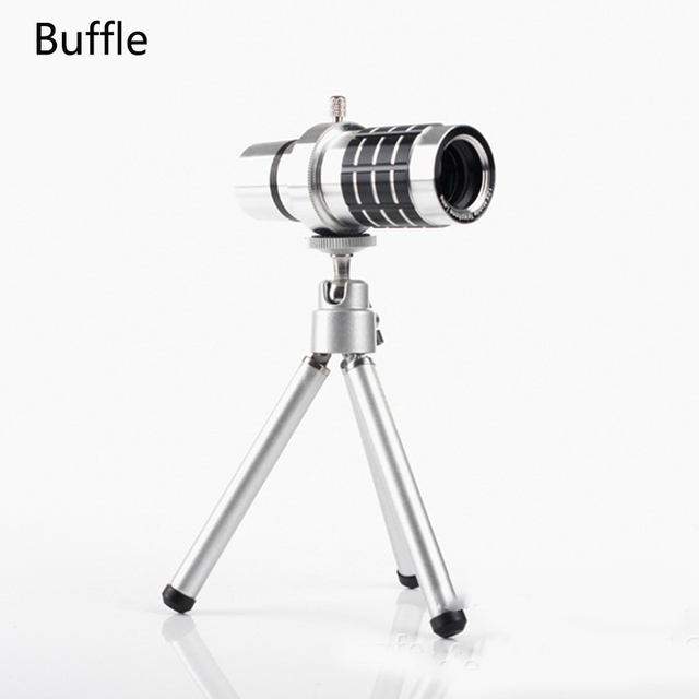 1 Pcs High Quality aluminum Aolly 12X Round Telephoto Telescope Camera Lens for Meizu M 3 Mobile Phone Free Shipping with Cover