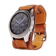 Replacement Genuine Leather Watch Band Bracelet Strap Watchband Wristband for Samsung Gear S3 Frontier