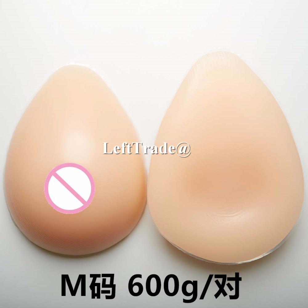 600g/pair B cup transgender realistic breast forms fake silicone boobs for men